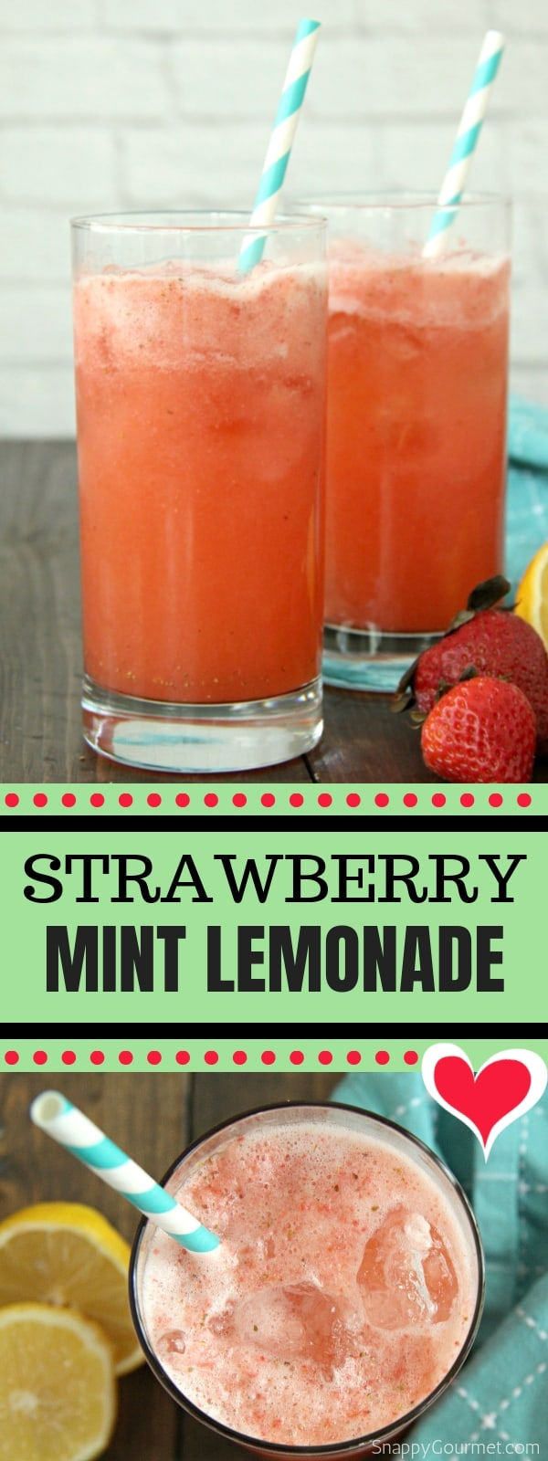 Strawberry Mint Lemonade photo collage