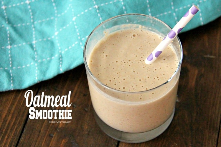 oatmeal smoothie in glass