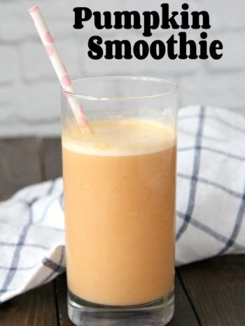 Pumpkin Smoothie in a glass
