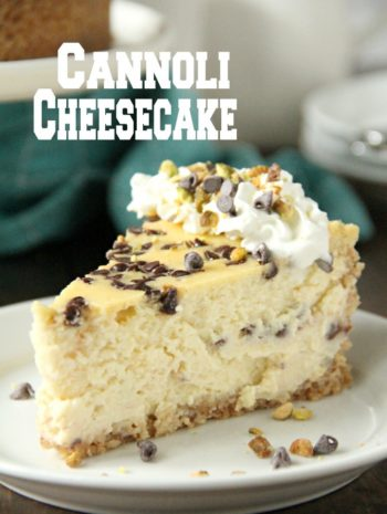 slice of cannoli cheesecake