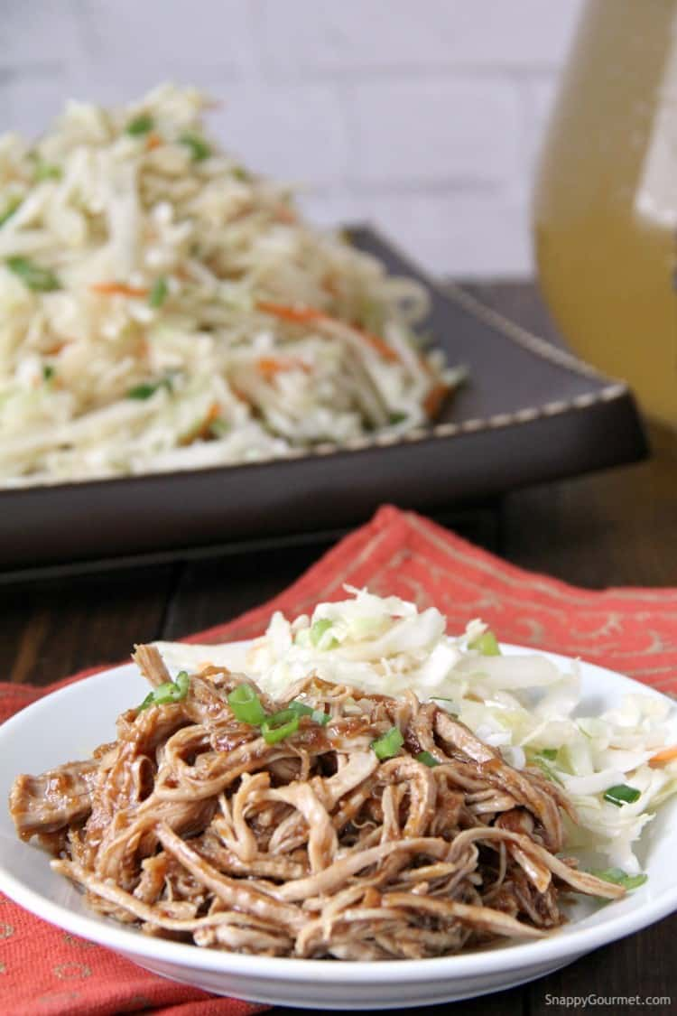 Korean BBQ pork with Asian slaw