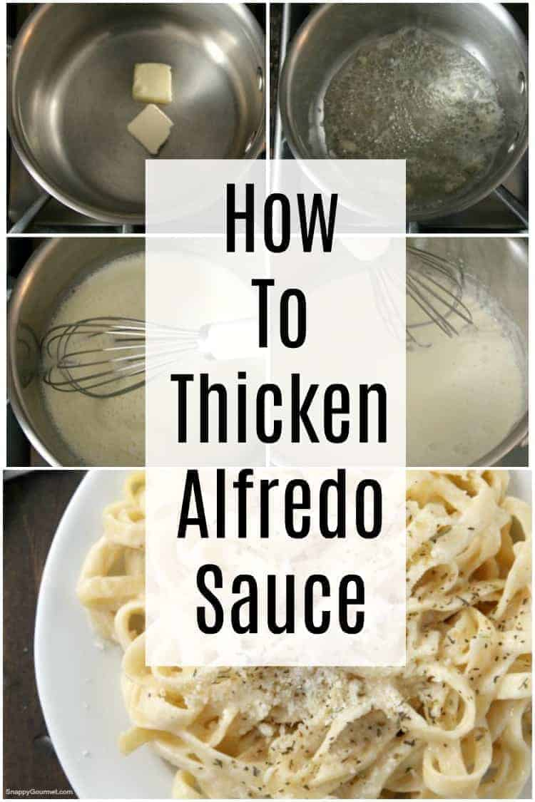 Alfredo sauce in pan