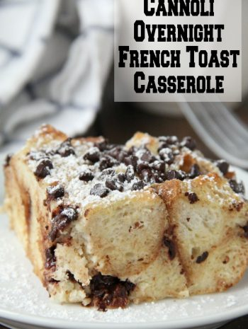 Cannoli Overnight French Toast Casserole on plate