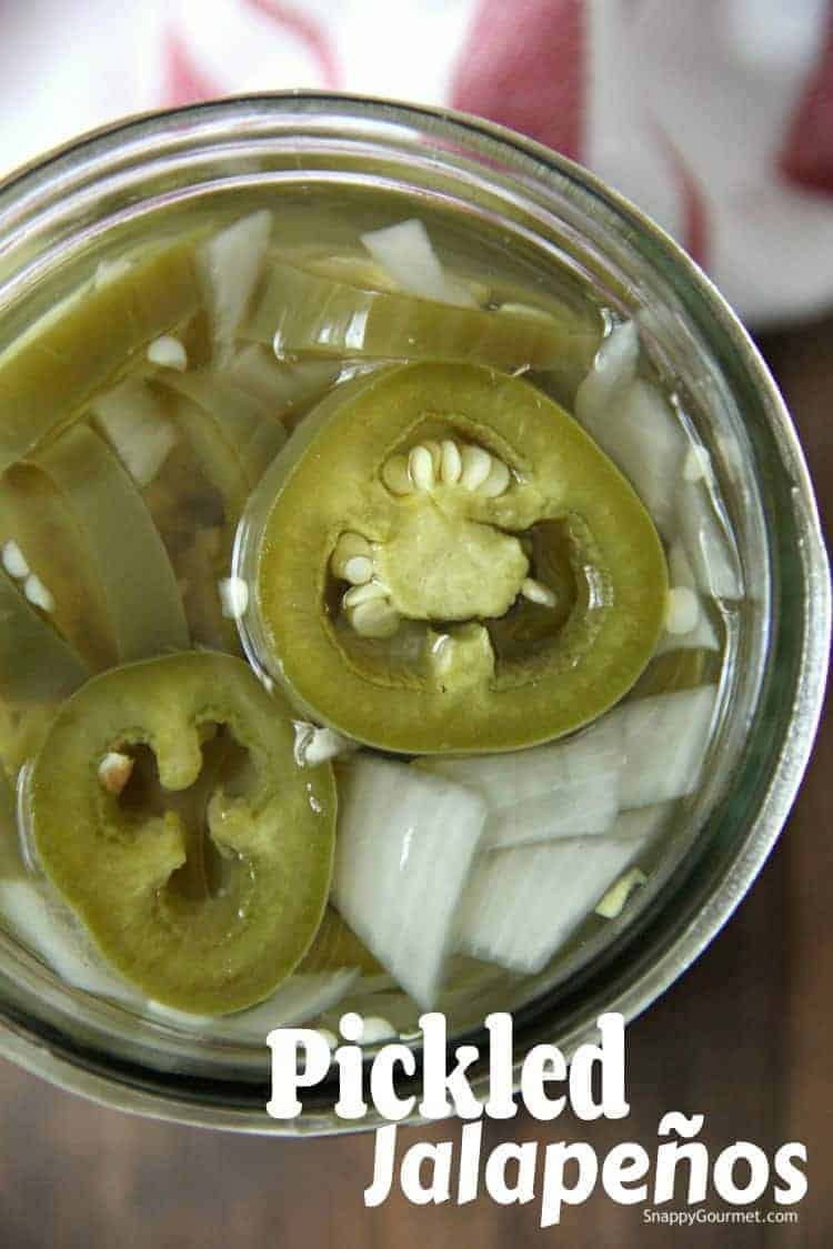 Pickled Jalapenos in mason jar