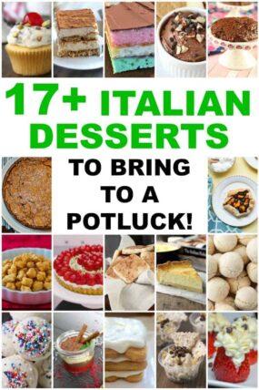 collage of Italian desserts