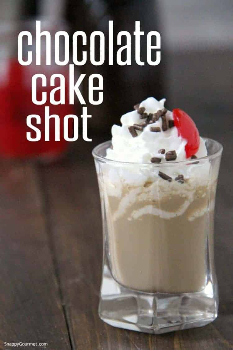 Chocolate Cake Shot in shot glass