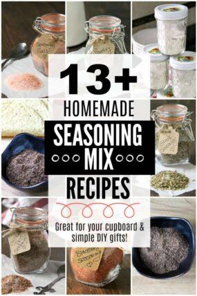 collage of seasoning mixes