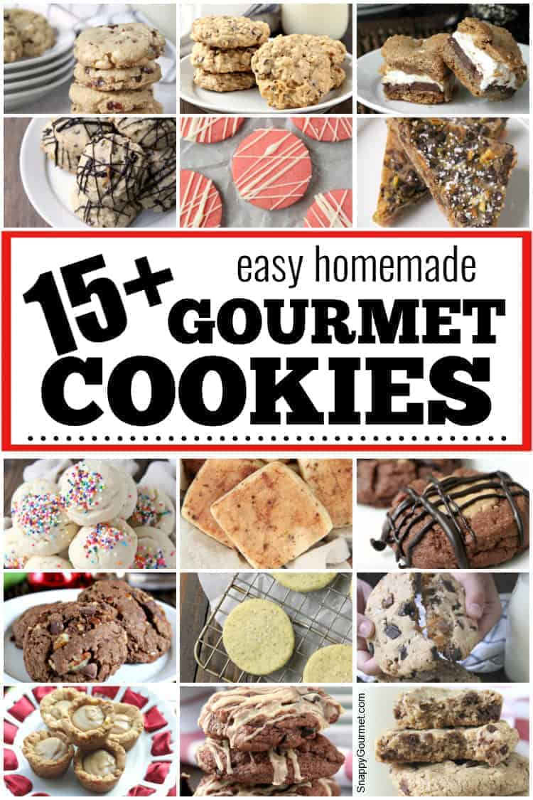 collage of gourmet cookies